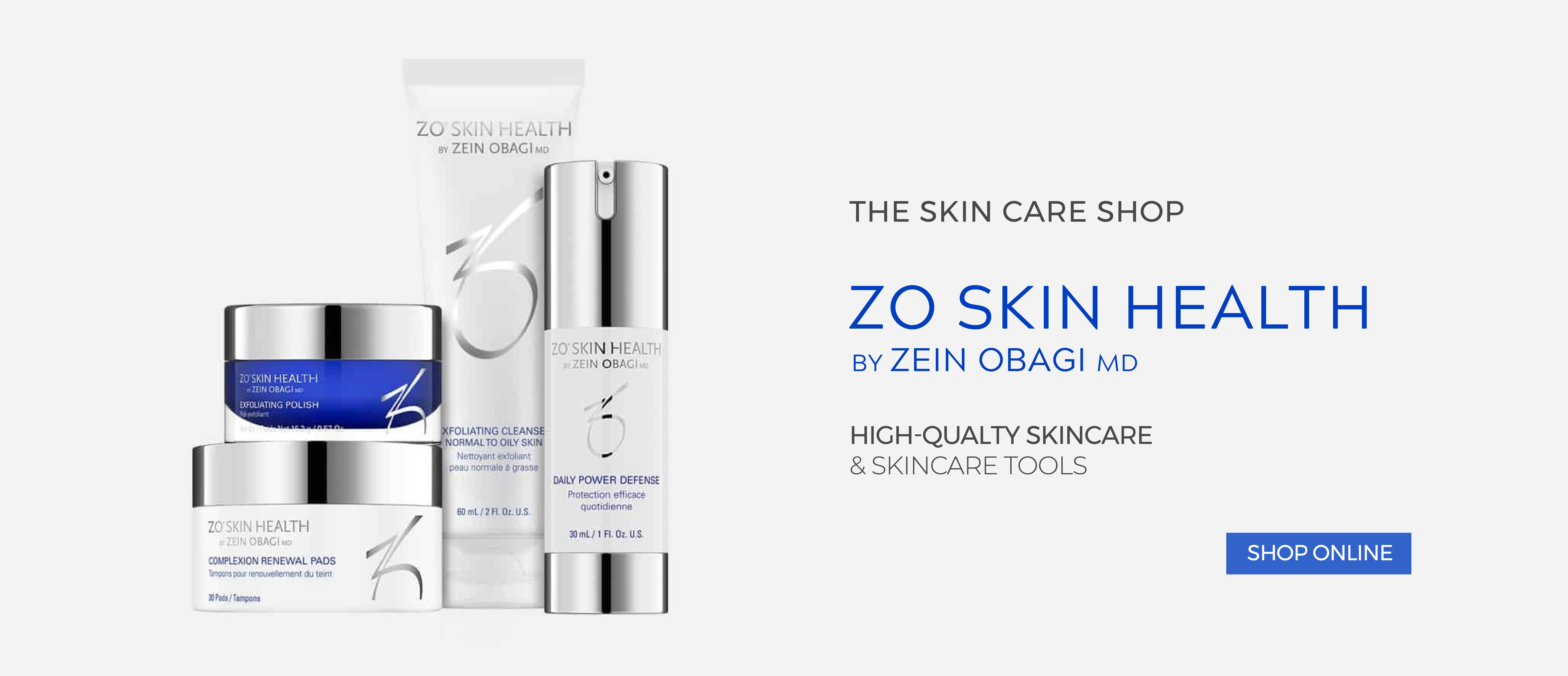 ZO Skin Health Skincare available at Papillon Bleu Aesthetics, The Skincare Shop